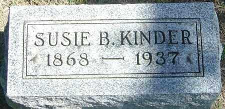 KINDER, SUSIE B - Franklin County, Ohio | SUSIE B KINDER - Ohio Gravestone Photos