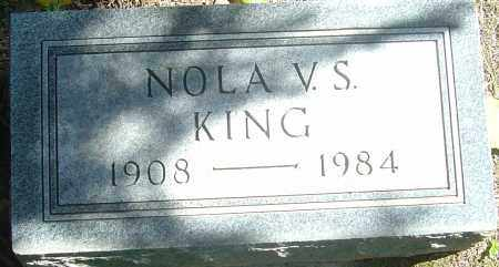 KING, NOLA V S - Franklin County, Ohio | NOLA V S KING - Ohio Gravestone Photos