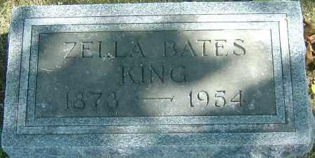 BATES KING, ZELLA - Franklin County, Ohio | ZELLA BATES KING - Ohio Gravestone Photos