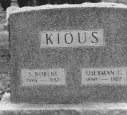KIOUS, SHERMAN G. - Franklin County, Ohio | SHERMAN G. KIOUS - Ohio Gravestone Photos