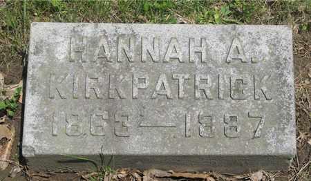 KIRKPATRICK, HANNAH A. - Franklin County, Ohio   HANNAH A. KIRKPATRICK - Ohio Gravestone Photos