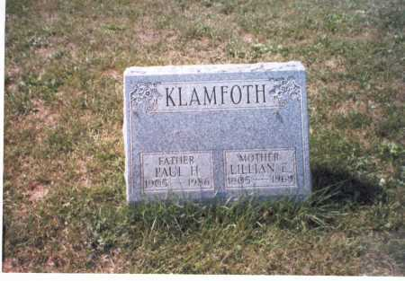 KLAMFOTH, PAUL H. - Franklin County, Ohio | PAUL H. KLAMFOTH - Ohio Gravestone Photos