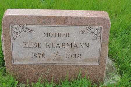 KLARMANN, ELISE - Franklin County, Ohio | ELISE KLARMANN - Ohio Gravestone Photos