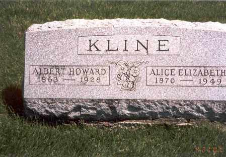 KLINE, ALICE ELIZABETH - Franklin County, Ohio | ALICE ELIZABETH KLINE - Ohio Gravestone Photos