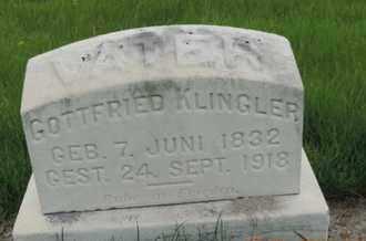 KLINGLER, GOTTFRIED - Franklin County, Ohio | GOTTFRIED KLINGLER - Ohio Gravestone Photos