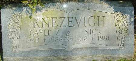 KNEZEVICH, NICK - Franklin County, Ohio | NICK KNEZEVICH - Ohio Gravestone Photos