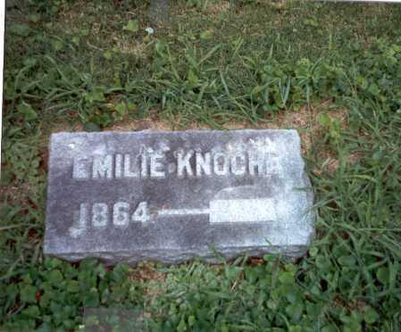 KNOCHE, EMILIE - Franklin County, Ohio | EMILIE KNOCHE - Ohio Gravestone Photos