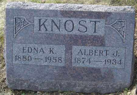 KNOST, ALBERT J - Franklin County, Ohio | ALBERT J KNOST - Ohio Gravestone Photos