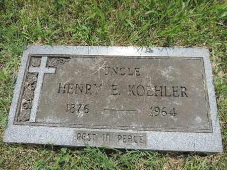 KOEHLER, HENRY E. - Franklin County, Ohio | HENRY E. KOEHLER - Ohio Gravestone Photos