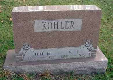 KOHLER, M. F. - Franklin County, Ohio | M. F. KOHLER - Ohio Gravestone Photos