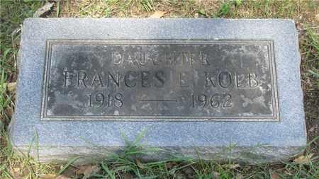 KOLB, FRANCES E. - Franklin County, Ohio   FRANCES E. KOLB - Ohio Gravestone Photos