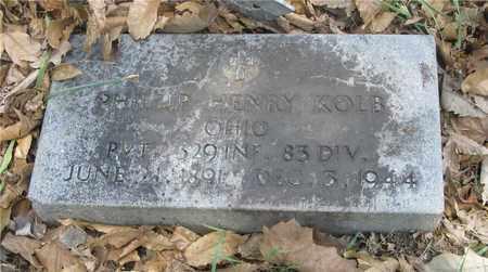 KOLB, PHILLIP HENRY - Franklin County, Ohio   PHILLIP HENRY KOLB - Ohio Gravestone Photos