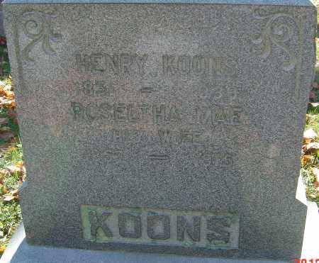 KOONS, HENRY - Franklin County, Ohio   HENRY KOONS - Ohio Gravestone Photos
