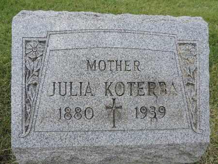 KOTERBA, JULIA - Franklin County, Ohio | JULIA KOTERBA - Ohio Gravestone Photos