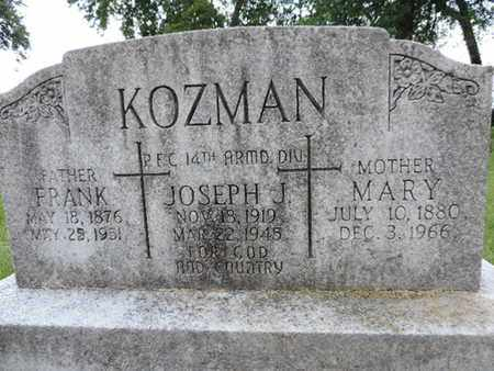 KOZMAN, FRANK - Franklin County, Ohio | FRANK KOZMAN - Ohio Gravestone Photos