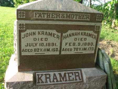 KRAMER, HANNAH - Franklin County, Ohio   HANNAH KRAMER - Ohio Gravestone Photos