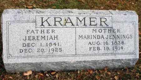 KRAMER, JEREMIAH - Franklin County, Ohio | JEREMIAH KRAMER - Ohio Gravestone Photos