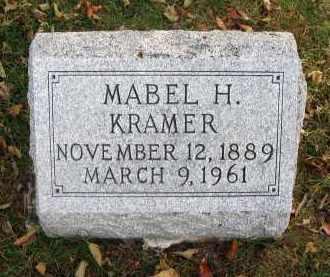 KRAMER, MABEL H. - Franklin County, Ohio   MABEL H. KRAMER - Ohio Gravestone Photos