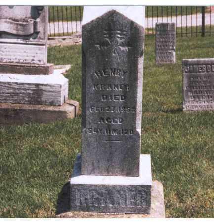 KRANER, HENRY - Franklin County, Ohio | HENRY KRANER - Ohio Gravestone Photos