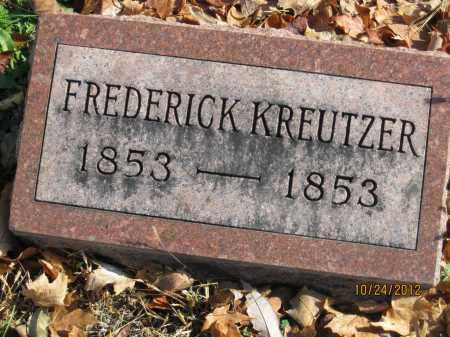 KREUTZER, FREDERICK - Franklin County, Ohio   FREDERICK KREUTZER - Ohio Gravestone Photos