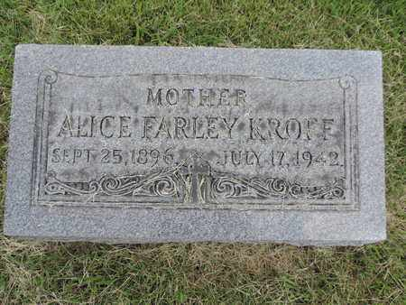 KROFF, ALICE - Franklin County, Ohio | ALICE KROFF - Ohio Gravestone Photos