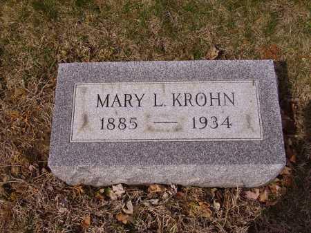 KROHN, MARY L. - Franklin County, Ohio   MARY L. KROHN - Ohio Gravestone Photos