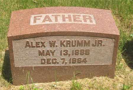 KRUMM, ALEX W. - Franklin County, Ohio | ALEX W. KRUMM - Ohio Gravestone Photos