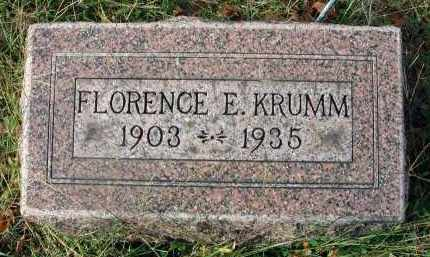 KRUMM, FLORENCE E. - Franklin County, Ohio | FLORENCE E. KRUMM - Ohio Gravestone Photos