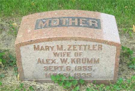 ZETTLER KRUMM, MARY M. - Franklin County, Ohio | MARY M. ZETTLER KRUMM - Ohio Gravestone Photos