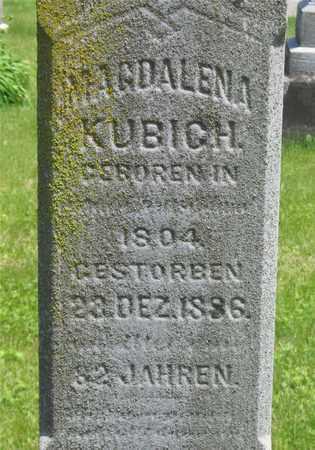 KUBICH, MAGDALENA - Franklin County, Ohio | MAGDALENA KUBICH - Ohio Gravestone Photos
