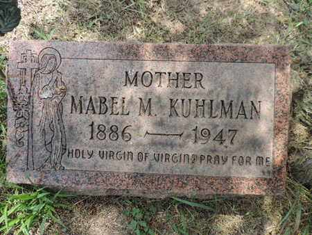 KUHLMAN, MABEL M - Franklin County, Ohio   MABEL M KUHLMAN - Ohio Gravestone Photos