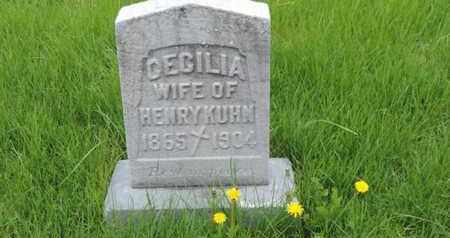 KUHN, CECILIA - Franklin County, Ohio | CECILIA KUHN - Ohio Gravestone Photos
