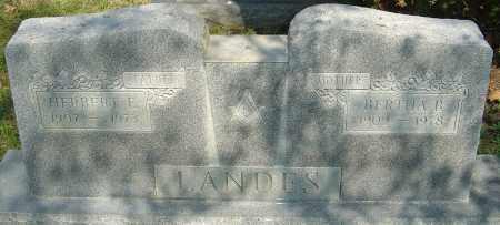 LANDES, HERBERT E - Franklin County, Ohio | HERBERT E LANDES - Ohio Gravestone Photos