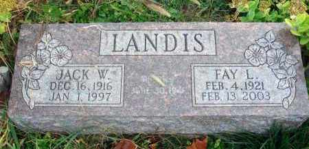LANDIS, FAY L. - Franklin County, Ohio | FAY L. LANDIS - Ohio Gravestone Photos