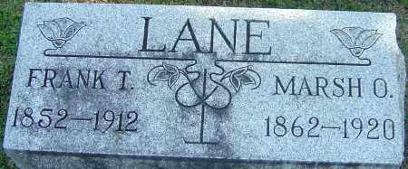 LANE, MARSH O - Franklin County, Ohio   MARSH O LANE - Ohio Gravestone Photos