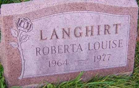 LANGHIRT, ROBERTA - Franklin County, Ohio | ROBERTA LANGHIRT - Ohio Gravestone Photos