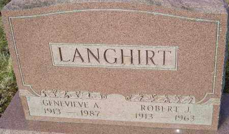 LANGHIRT, ROBERT J - Franklin County, Ohio | ROBERT J LANGHIRT - Ohio Gravestone Photos