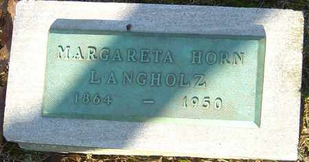 HORN LANGHOLZ, MARGARETA - Franklin County, Ohio | MARGARETA HORN LANGHOLZ - Ohio Gravestone Photos