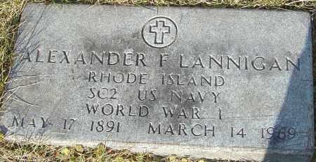 LANNIGAN, ALEXANDER F - Franklin County, Ohio | ALEXANDER F LANNIGAN - Ohio Gravestone Photos