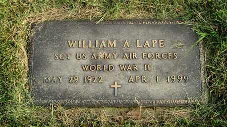 LAPE, WILLIAM A. - Franklin County, Ohio   WILLIAM A. LAPE - Ohio Gravestone Photos