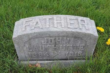 LAUFHUTTE, JOHN - Franklin County, Ohio | JOHN LAUFHUTTE - Ohio Gravestone Photos