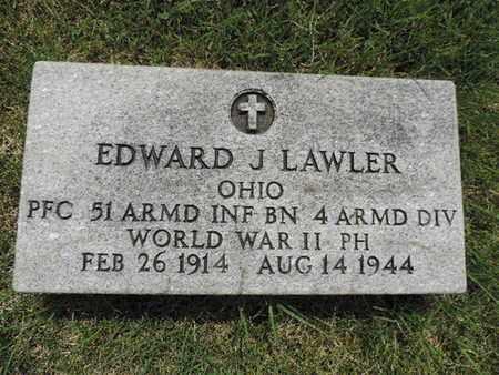 LAWLER, EDWARD J. - Franklin County, Ohio   EDWARD J. LAWLER - Ohio Gravestone Photos
