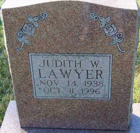 LAWYER, JUDITH W - Franklin County, Ohio | JUDITH W LAWYER - Ohio Gravestone Photos
