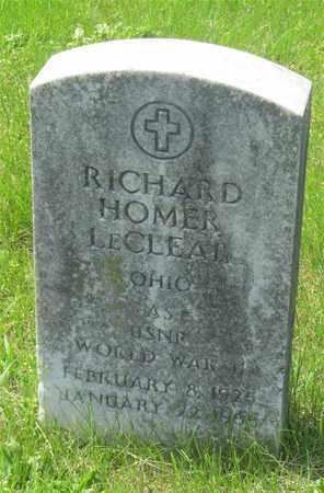 LECLEAR, RICHARD HOMER - Franklin County, Ohio   RICHARD HOMER LECLEAR - Ohio Gravestone Photos