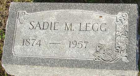 LEGG, SADIE M - Franklin County, Ohio | SADIE M LEGG - Ohio Gravestone Photos