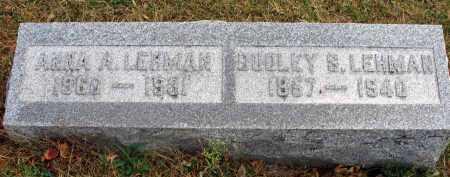 LEHMAN, ANNA A. - Franklin County, Ohio | ANNA A. LEHMAN - Ohio Gravestone Photos