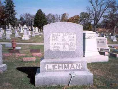 LEHMAN, ISAAC - Franklin County, Ohio | ISAAC LEHMAN - Ohio Gravestone Photos