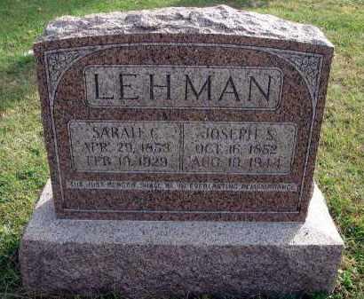 LEHMAN, JOSEPH S. - Franklin County, Ohio   JOSEPH S. LEHMAN - Ohio Gravestone Photos