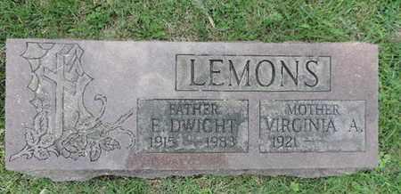 LEMONS, E. DWIGHT - Franklin County, Ohio | E. DWIGHT LEMONS - Ohio Gravestone Photos