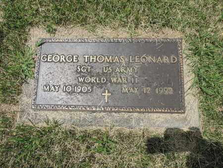 LEONARD, GEORGE THOMAS - Franklin County, Ohio | GEORGE THOMAS LEONARD - Ohio Gravestone Photos